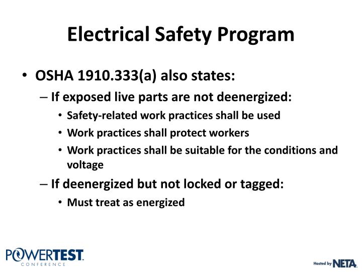 Electrical Safety Program