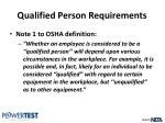 qualified person requirements4