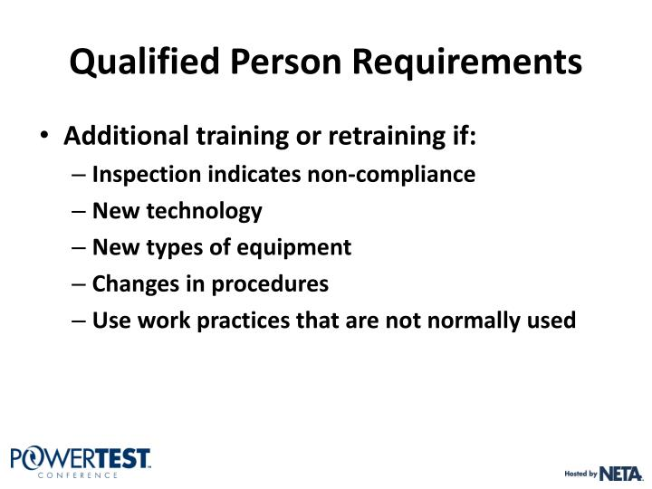 Qualified Person Requirements