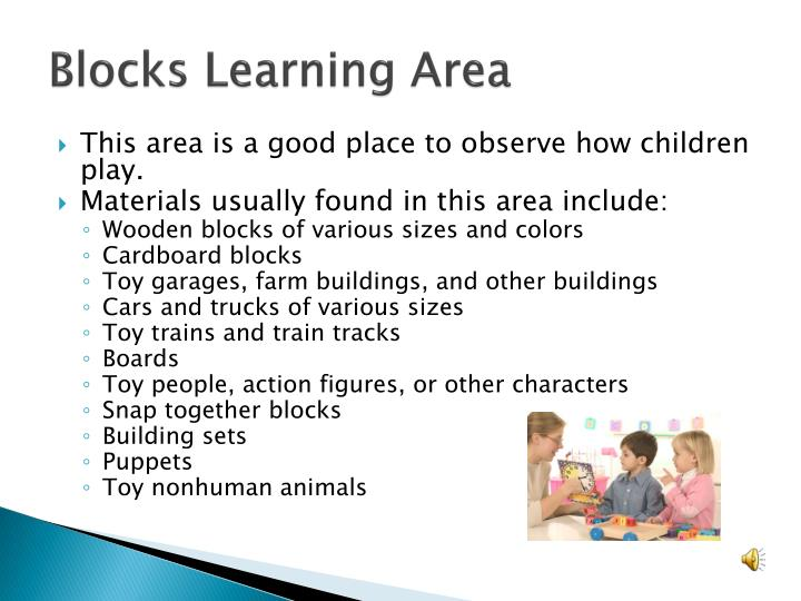 Blocks Learning Area