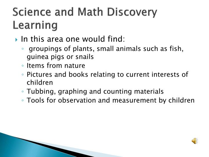 Science and Math Discovery Learning