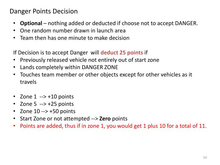 Danger Points Decision