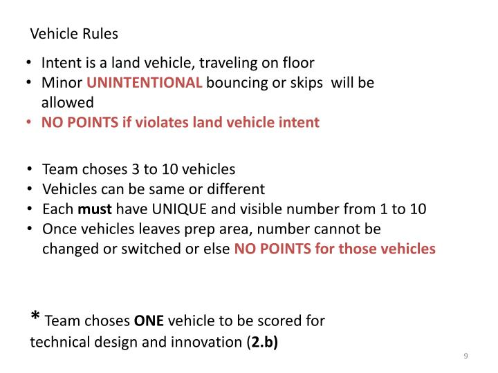 Vehicle Rules