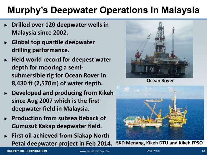 Murphy's Deepwater Operations in Malaysia