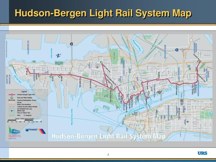 Hudson bergen light rail system map