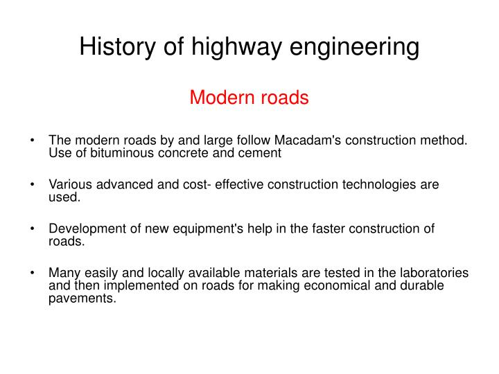 History of highway engineering