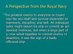 a perspective from the royal navy