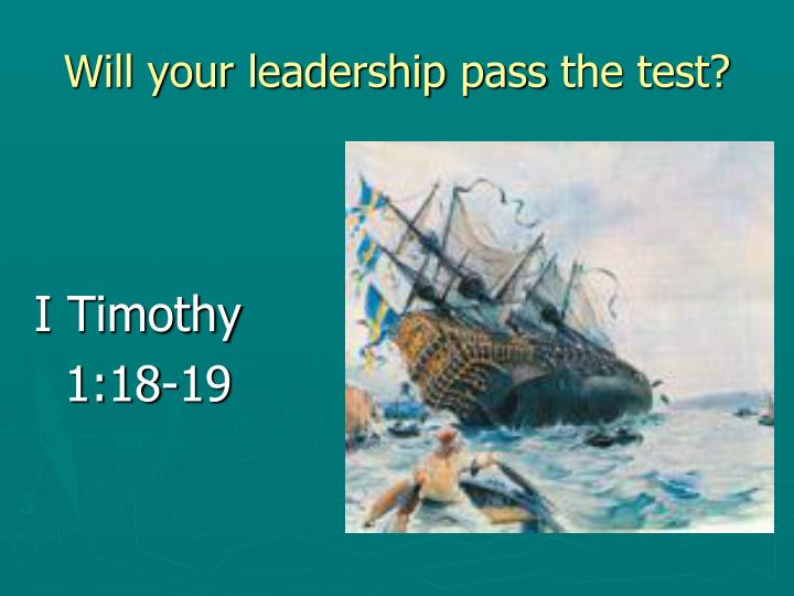 Will your leadership