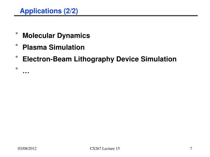 Applications (2/2)