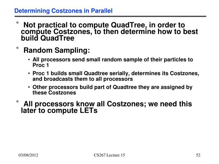 Determining Costzones in Parallel