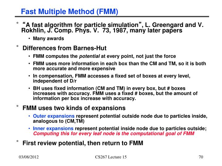 Fast Multiple Method (FMM)