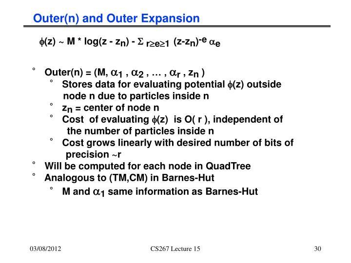 Outer(n) and Outer Expansion