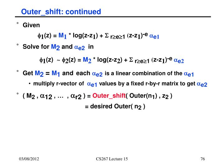 Outer_shift: continued