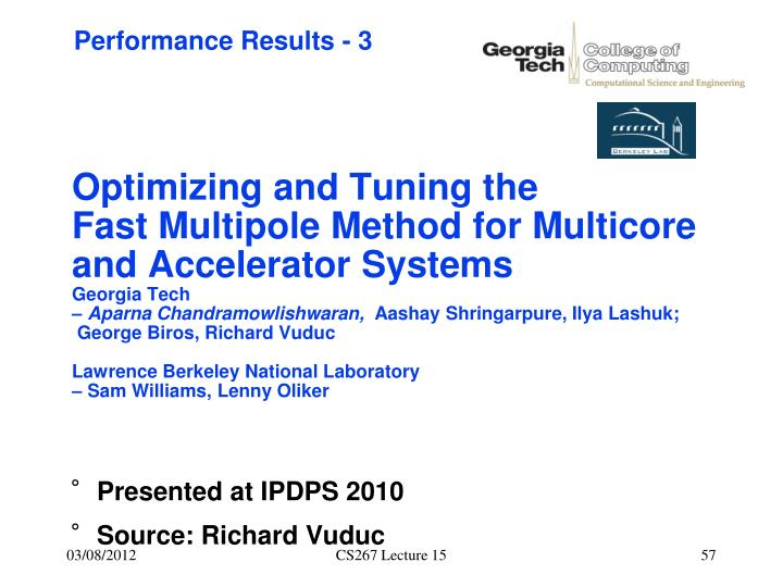 Optimizing and Tuning the