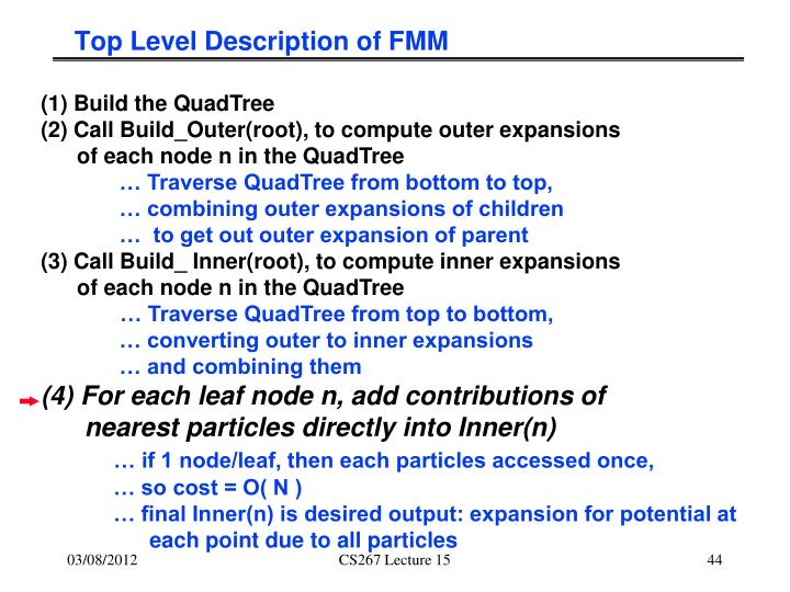 Top Level Description of FMM