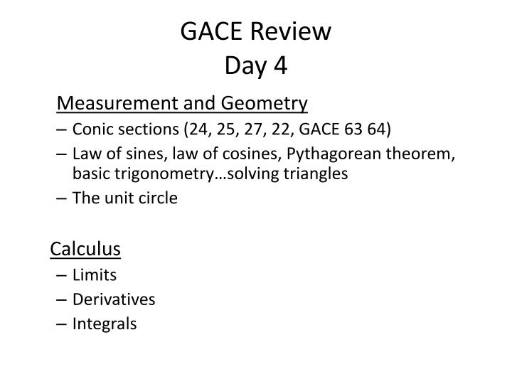 GACE Review
