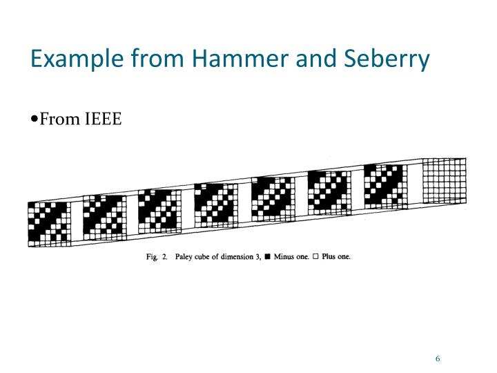 Example from Hammer and Seberry