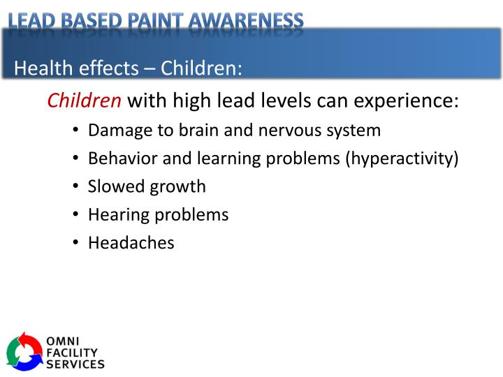 Health effects – Children: