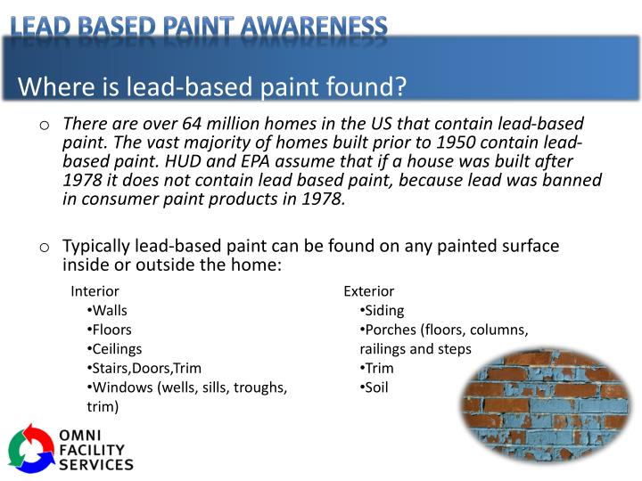 Where is lead-based paint found?