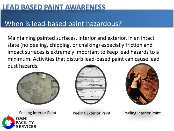 When is lead-based paint hazardous?