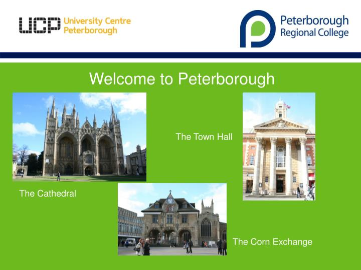 Welcome to Peterborough