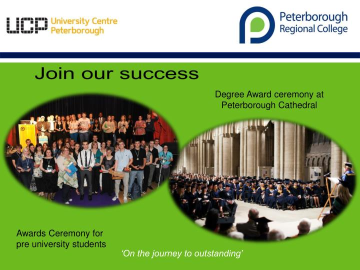Degree Award ceremony at Peterborough Cathedral