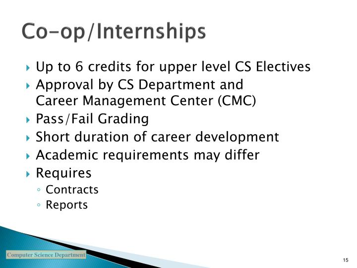 Co-op/Internships