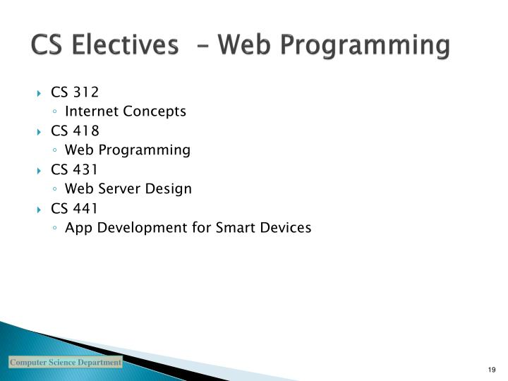 CS Electives  – Web