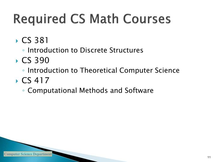 Required CS Math Courses