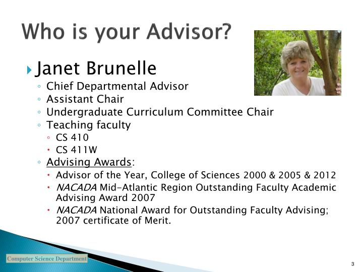 Who is your Advisor?