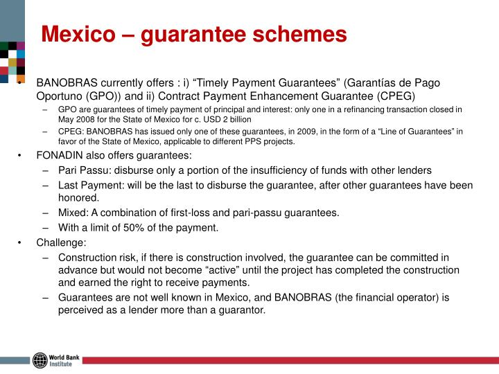 Mexico – guarantee schemes