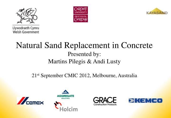 Natural Sand Replacement in Concrete