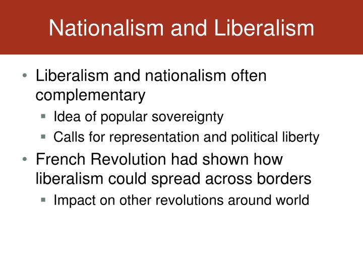 Nationalism and Liberalism