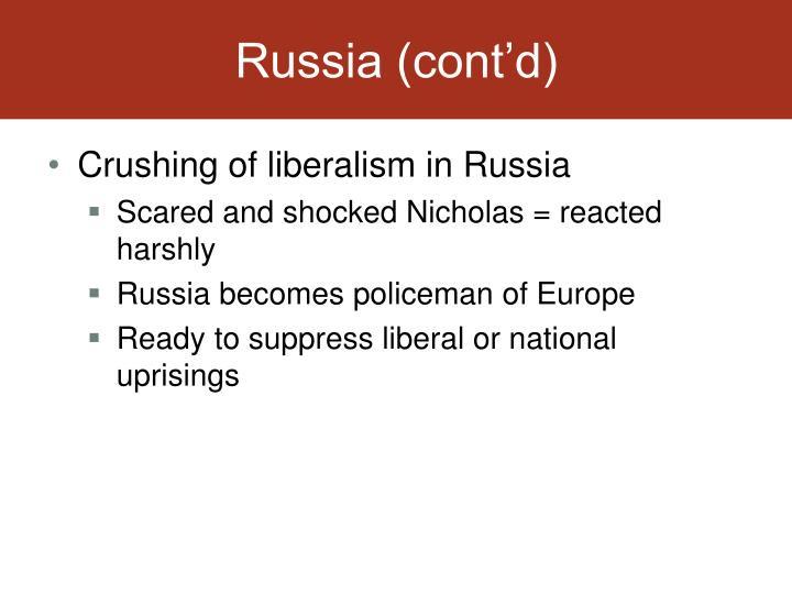 Russia (cont'd)
