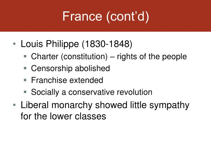 France (cont'd)