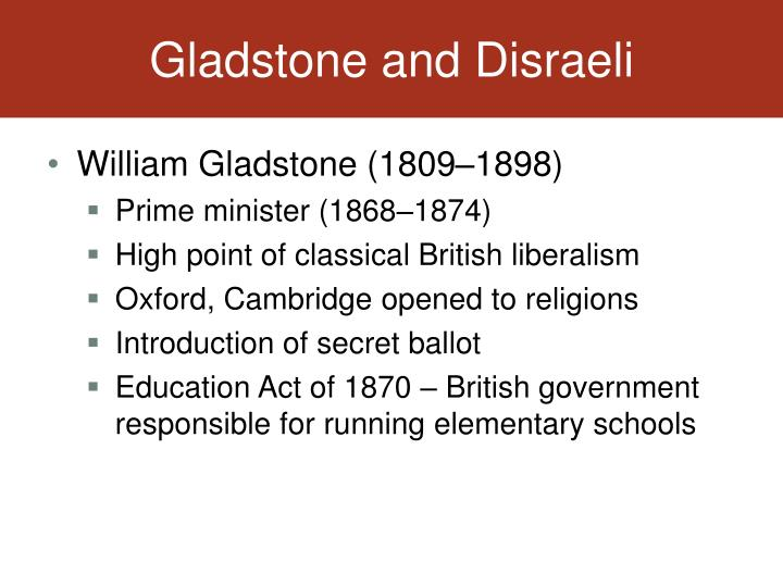 Gladstone and Disraeli