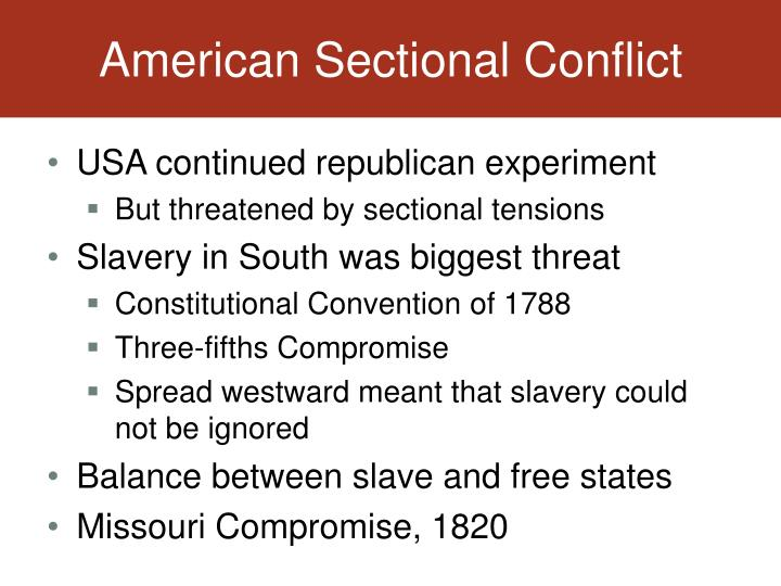 American Sectional Conflict