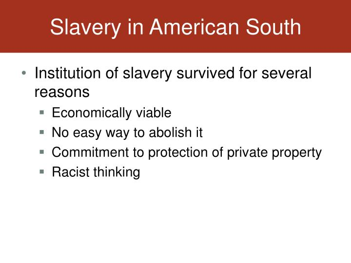 Slavery in American South