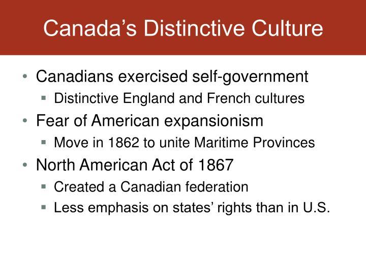 Canada's Distinctive Culture