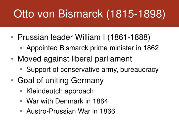 Otto von Bismarck (1815-1898)