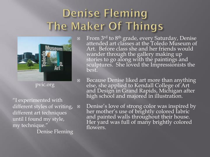 Denise fleming the maker of things1