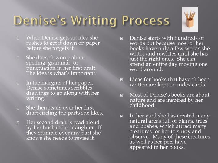 Denise's Writing Process