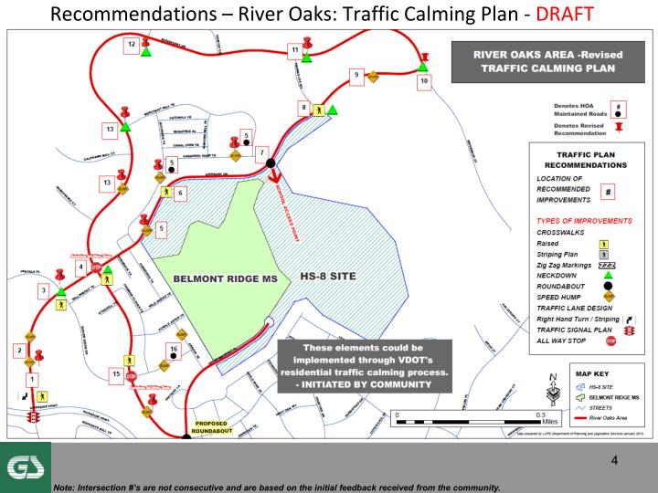 Recommendations – River Oaks: Traffic Calming Plan -