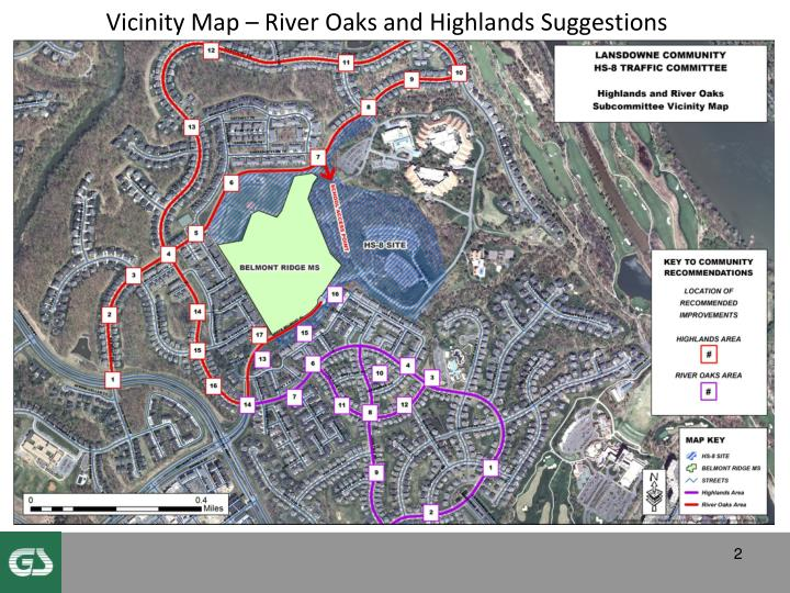 Vicinity Map – River Oaks and Highlands Suggestions
