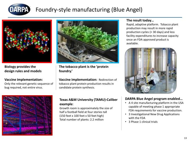 Foundry-style manufacturing (Blue Angel)