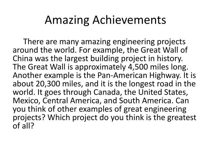 Amazing Achievements