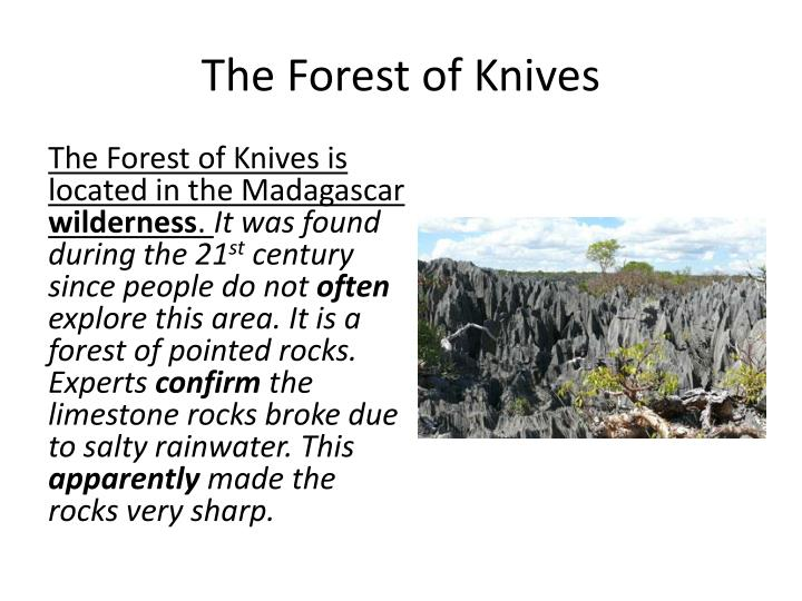 The Forest of Knives