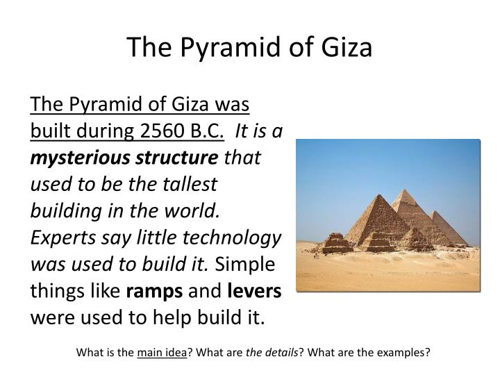 The Pyramid of Giza
