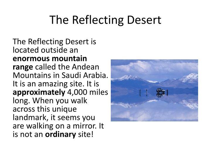 The Reflecting Desert