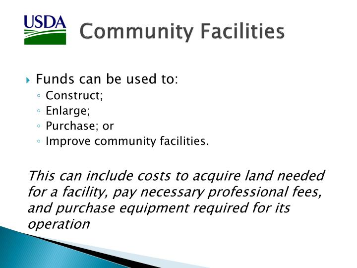 Community facilities1